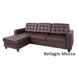 Диван угловой с канапе Камелот (Bellagio Mocca)